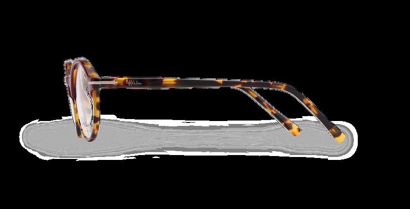 Lunettes de vue homme MORBIER rouge/écaille - Vue de côté