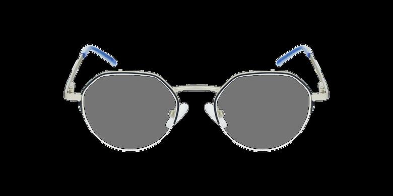 Lunettes de vue femme LAM bleu/doréVue de face