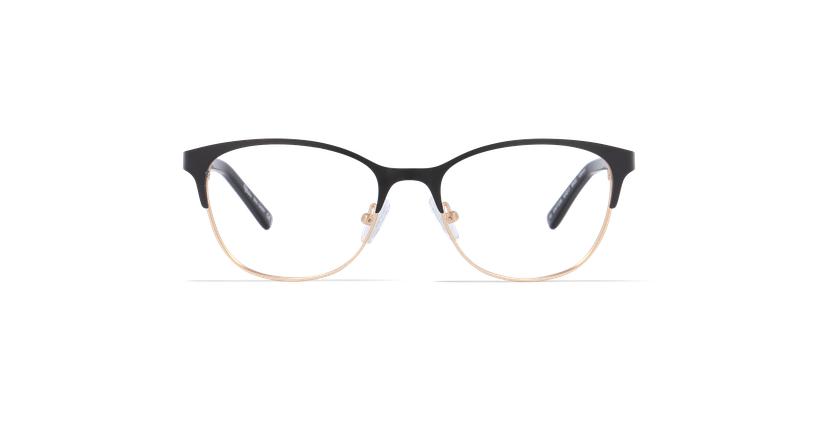 Lunettes de vue femme CASSY noir/doré - Vue de face