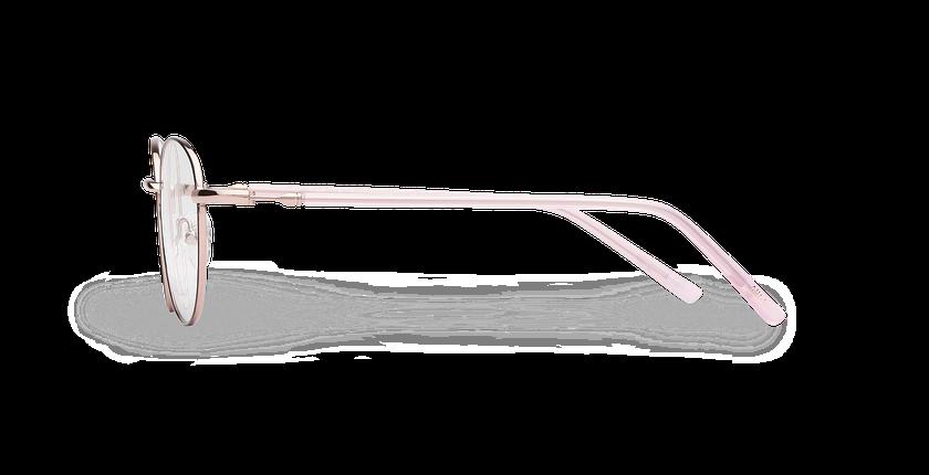 Lunettes de vue femme NELIA noir/rose - Vue de côté
