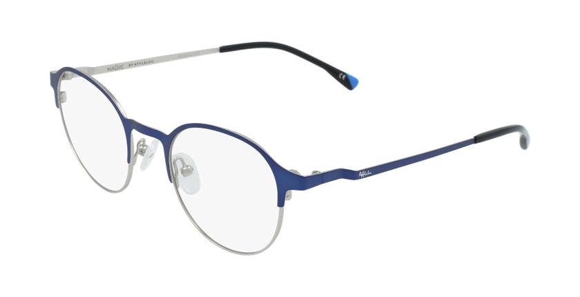 Lunettes de vue homme MAGIC 53 bleu/gris - vue de 3/4