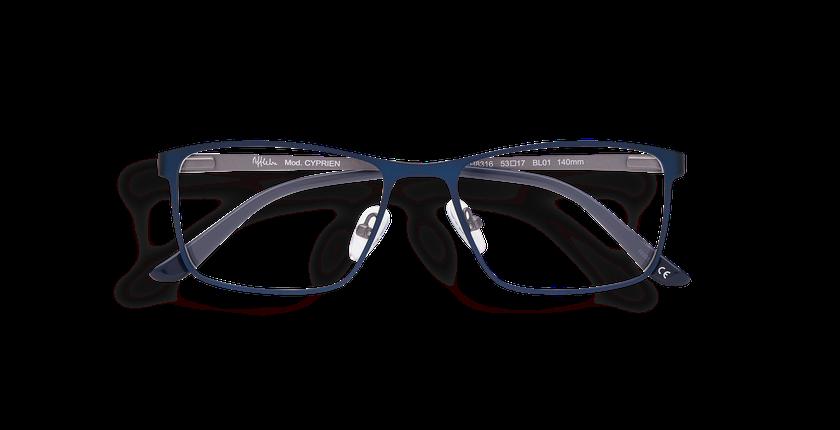 Lunettes de vue homme CYPRIEN bleu - Vue de face