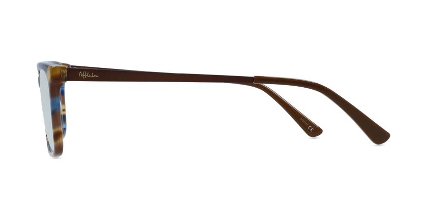 Lunettes de vue homme MARC bleu/marron - Vue de côté