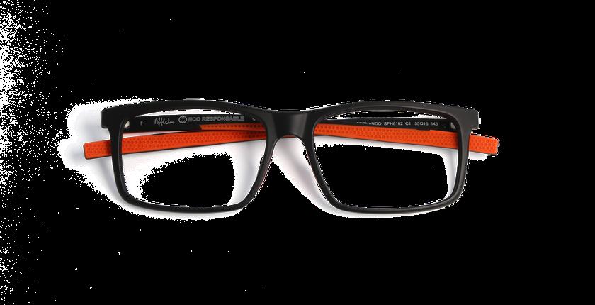 Lunettes de vue homme FERNANDO noir - Vue de face