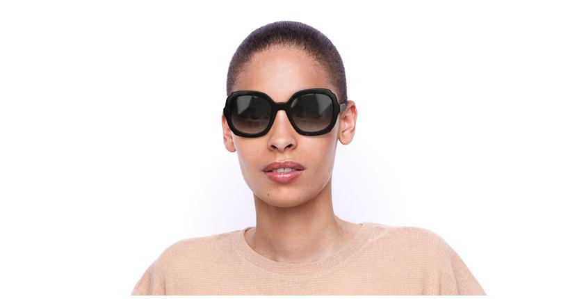 Lunettes de soleil femme HERITAGE écaille/noir - Vue de face