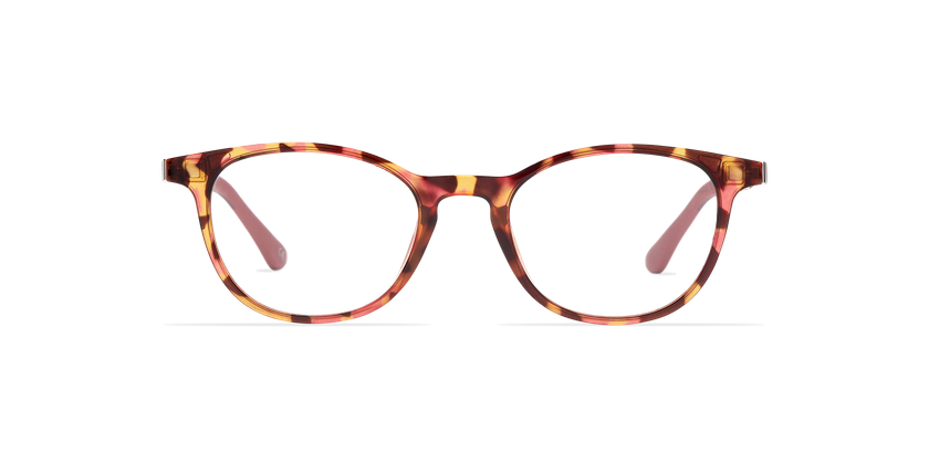 Lunettes de vue femme SMART TONIC 18 écaille/écaille rose - Vue de face