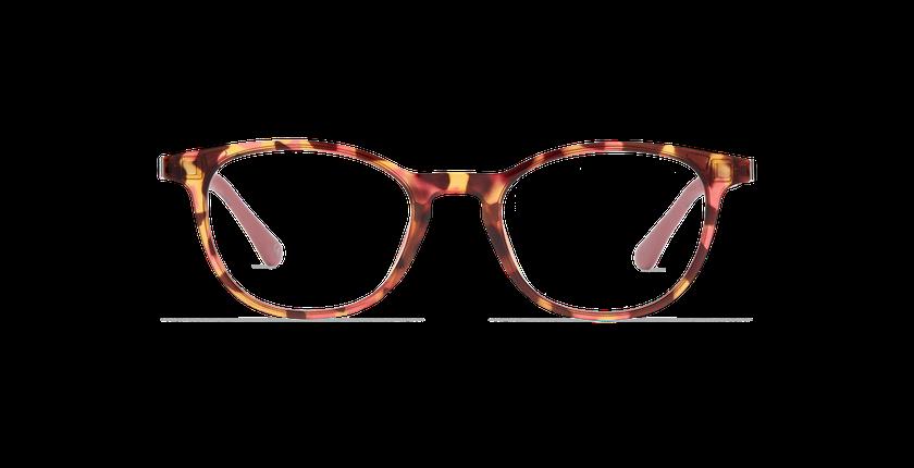 Lunettes de vue femme MAGIC 18 écaille/écaille rose - Vue de face