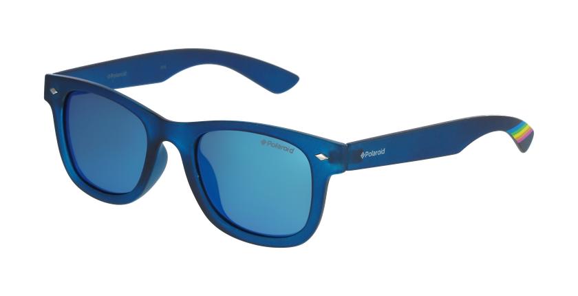 Lunettes de soleil enfant PLD 8009/N bleu/bleu - vue de 3/4
