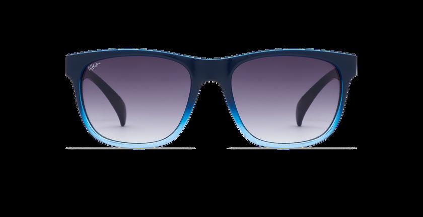 Lunettes de soleil homme LEANDRO bleu - Vue de face