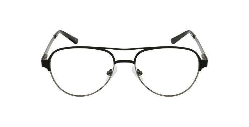 Lunettes de vue NAEL noir/gris - Vue de face