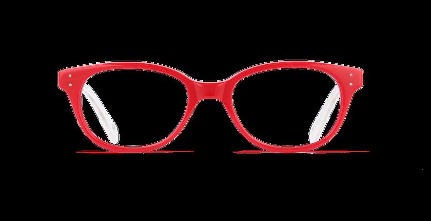 Lunettes de vue enfant AMELIA rouge - Vue de face