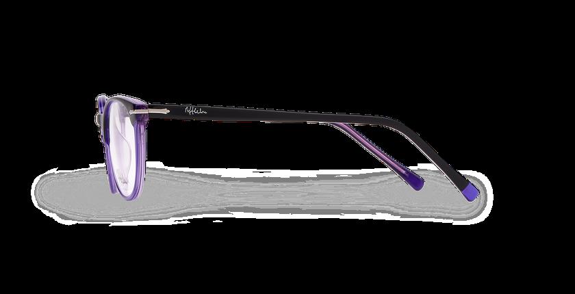 Lunettes de vue femme NANTUA noir/violet - Vue de côté