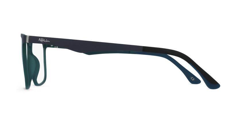 Lunettes de vue homme MAGIC 38 bleu/vert - Vue de côté