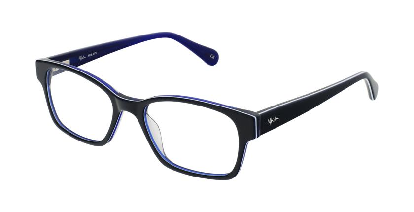 Lunettes de vue femme LYS bleu - vue de 3/4