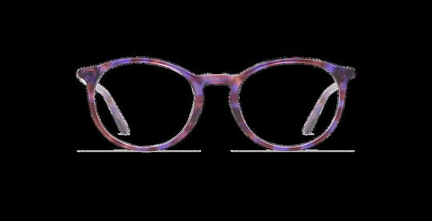 Lunettes de vue femme MADDY écaille/violet - Vue de face