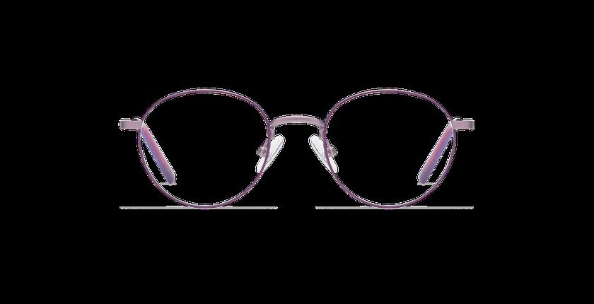 Lunettes de vue enfant DOM violet/rose - Vue de face