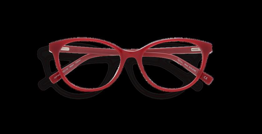 Lunettes de vue femme SOLENE rouge - Vue de face