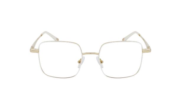 Lunettes de vue femme MAGIC 94 blanc/doré - Vue de face