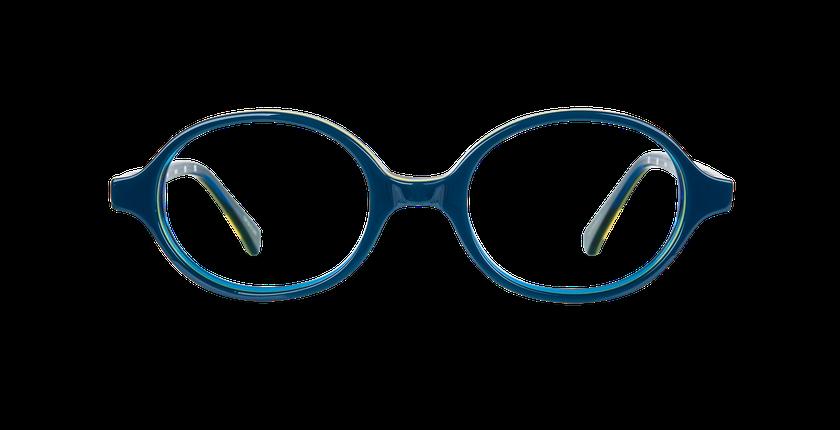 Lunettes de vue enfant KEVIN bleu/jaune - Vue de face