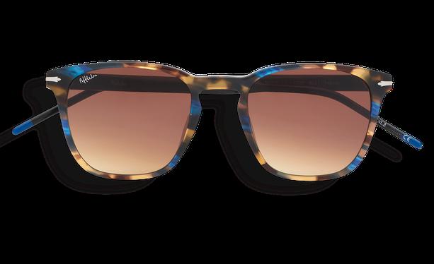 Lunettes de soleil homme HUNTER écaille/bleu - danio.store.product.image_view_face