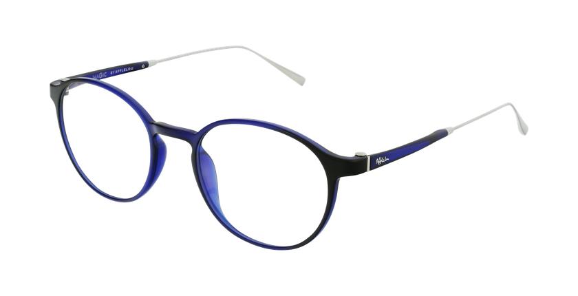 Lunettes de vue MAGIC 65 bleu/argenté - vue de 3/4