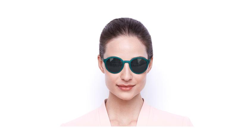 Lunettes de soleil femme BIANCA vert - Vue de face