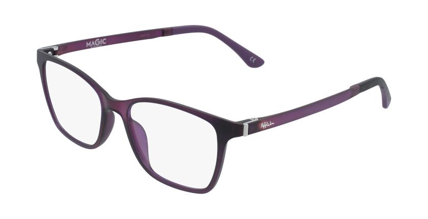 Lunettes de vue femme MAGIC 60 violet - vue de 3/4
