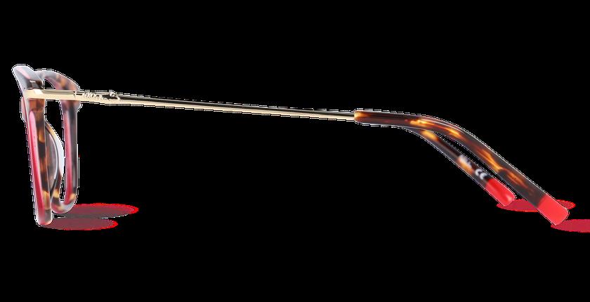 Lunettes de vue femme WATERFORD rouge - Vue de côté
