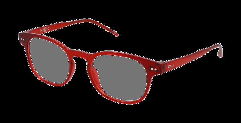 Lunettes de vue enfant MAGIC 50 BLUEBLOCK rouge - vue de 3/4