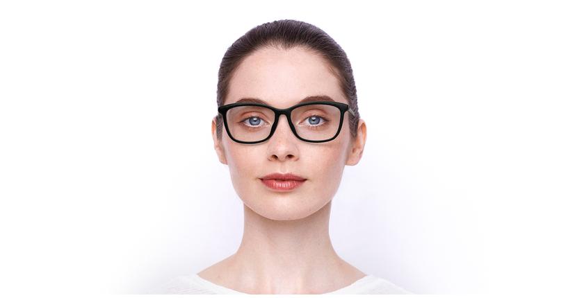 Lunettes de vue femme MONTAIGNE55F noir - Vue de face