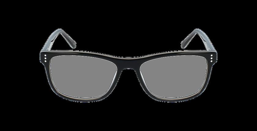 Lunettes de vue homme HECTOR noir/gris - Vue de face