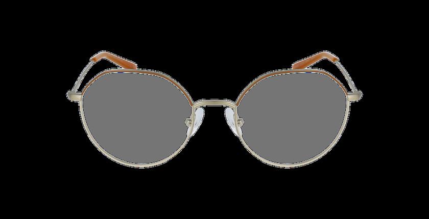 Lunettes de vue femme ANAELLE marron/doré - Vue de face
