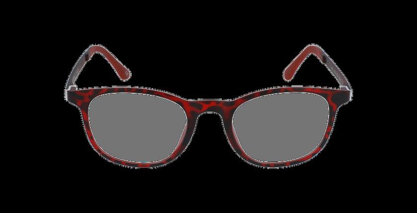 Lunettes de vue homme MAGIC 20 rouge/écaille - Vue de face