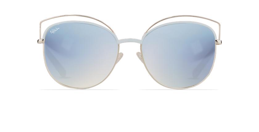 Lunettes de soleil femme BETTY bleu/doré - Vue de face