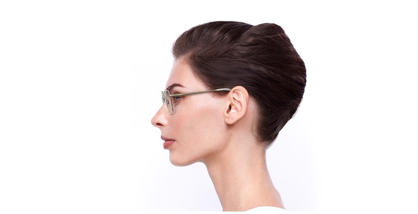 Lunettes de vue femme MAGIC 94 blanc/doré - Vue de côté