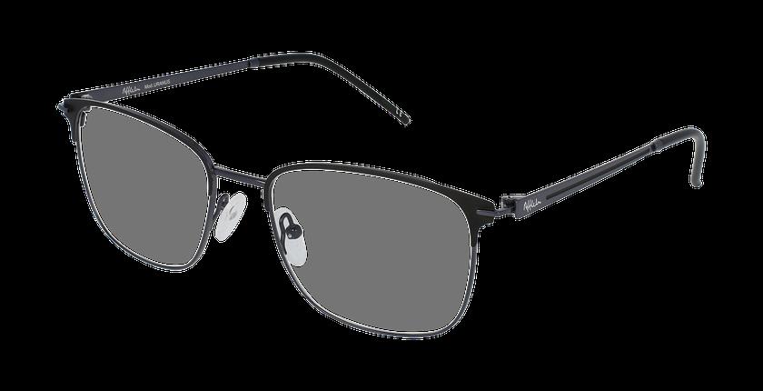 Lunettes de vue homme URANUS gris/noir - vue de 3/4