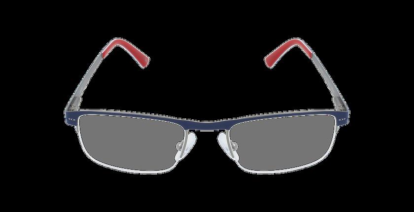 Lunettes de vue homme DAN bleu/gris - Vue de face