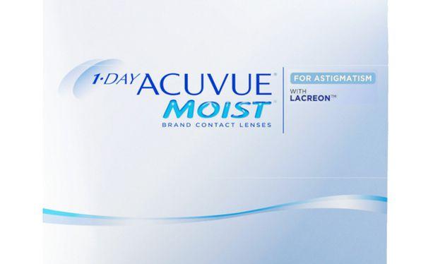 Lentilles de contact 1 Day Acuvue® Moist® for Astigmatism 90L - Vue de face