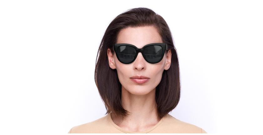 Lunettes de soleil femme BRITANY noir - Vue de face