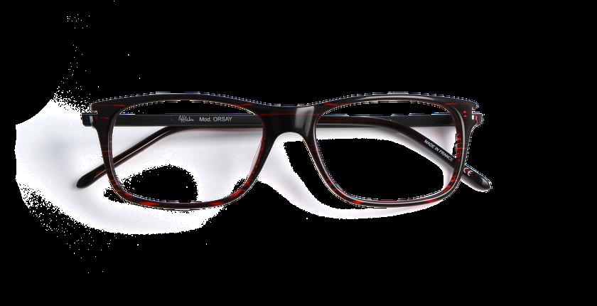 Lunettes de vue homme ORSAY rouge - Vue de face