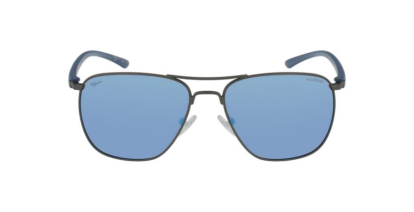 Lunettes de soleil homme ENEKO argenté/bleu - Vue de face