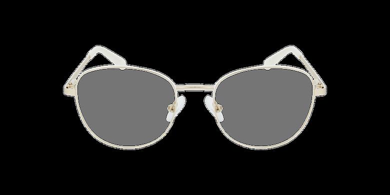 Lunettes de vue femme LISSOU blanc/doréVue de face