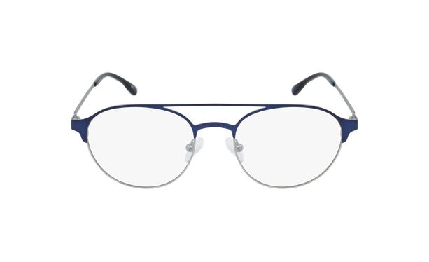 Lunettes de vue homme MAGIC 52 bleu/argenté - Vue de face