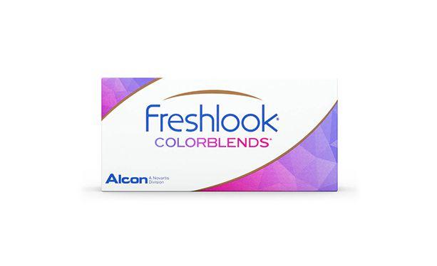 Lentilles de contact FreshLook ColorBlends Brilliant Blue 2L - Vue de face