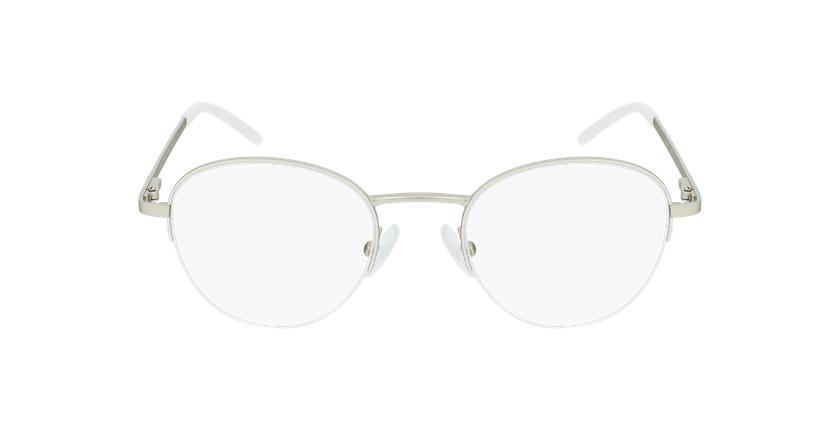 Lunettes de vue femme DOMI blanc/doré - Vue de face