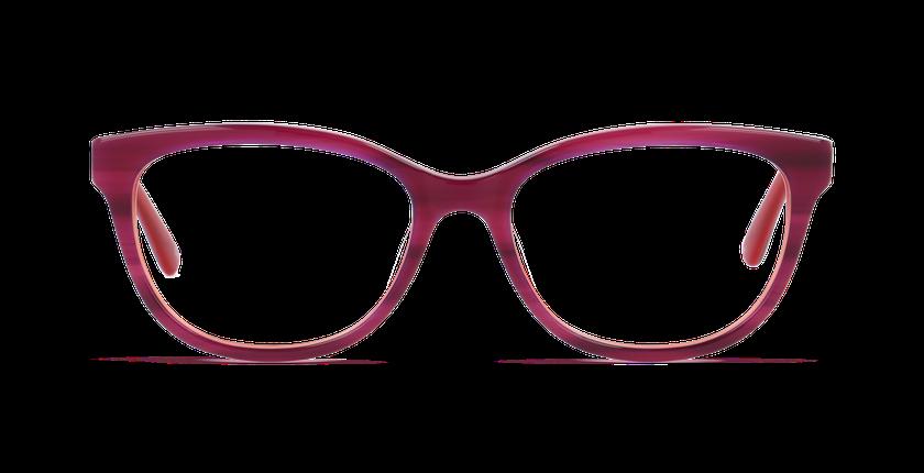 Lunettes de vue femme BETINA rose - Vue de face