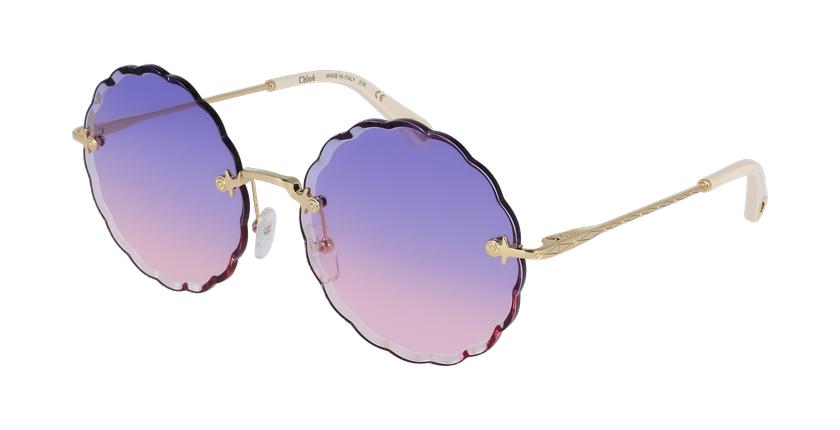 Lunettes de soleil femme CE142S violet/doré - vue de 3/4