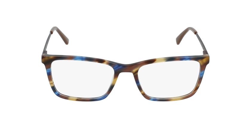 Lunettes de vue homme MARC bleu/marron - Vue de face