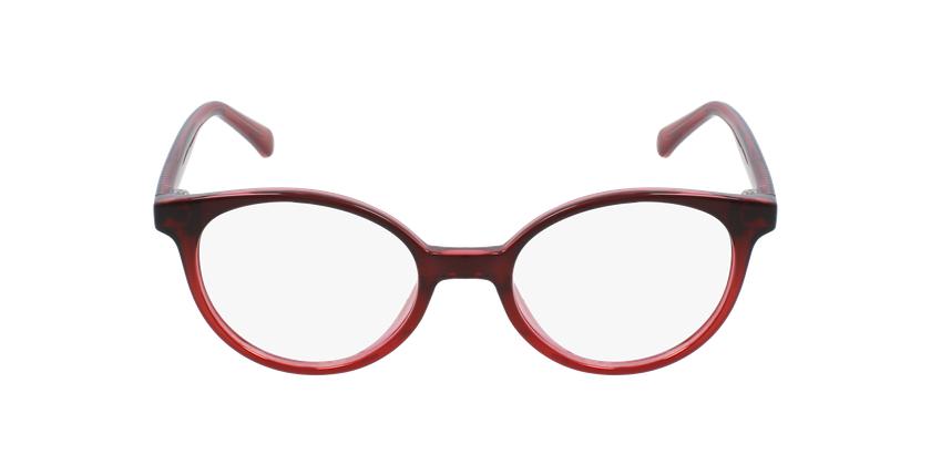 Lunettes de vue enfant RZERO25 rouge - Vue de face