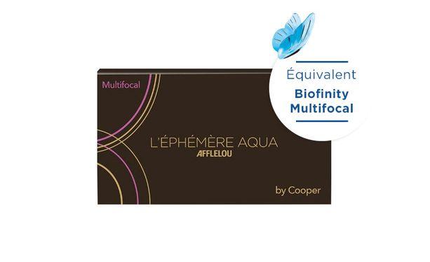 Lentilles de contact Ephémère Aqua Mensuelle Multifocal 6L - Vue de face